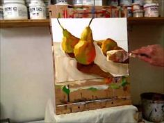 Expressive Acrylic Painting with Patti Mollica - Lesson 3, Three Pears Demo