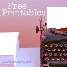 Free Printables for Homeschooling, Kid Activities, Charts, Chores, Calendar etc!