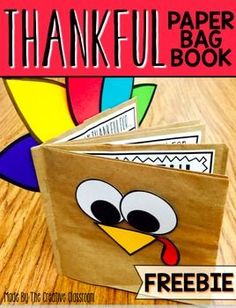 Thanksgiving BookUse this fun interactive paper bag book for your students to share what they are thankful for. Each page of the book includes space for them to illustrate…
