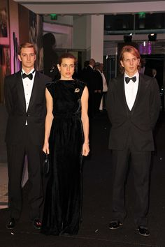 2011 - Andre, Charlotte and Pierre at the Monaco Red Cross ball