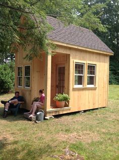 Tiny house on a small island accessible by boat in Massachusetts.