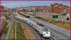 Cruce de trenes en Zamora