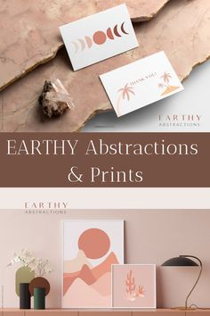 Meet our new collection Earthy Abstractions. There are more than 100 individual graphics and 15 trendy prints for your awesome projects. Perfect for stationery, Visiting Card Design, Logo Design, Graphic Design, Earth Tones, Mood Boards, Earthy, Thank You Cards, Astrology, Stationery