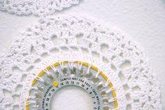 Sara Christensen Blair - doilies around birth control packages - what a statement!