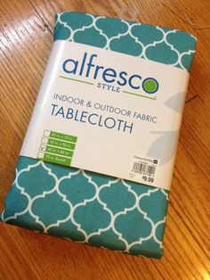 DIY Outdoor Pillows: The 15 Minute Tablecloth and Plastic Bag Method