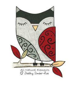'Sleeping Owl' by Destiny Amber-Lee