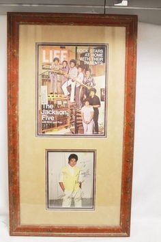 Michael Jackson Autograph Signature Early Photo Framed Memorabilia J5 Five Life