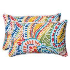 Pillow Perfect� Ummi Outdoor 2-Piece Lumbar Throw Pillow Set - Multicolored