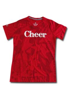 Our awesome red cheerleading Electrify Tee! So comfy. Get it here: www.sportskatz.com