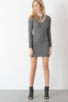 Sweater dress from day to night