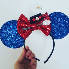 Mary Poppins Mouse Ears Headband Spoonful of Sugar Mary Poppins... ($33) ❤ liked on Polyvore featuring accessories, hair accessories, barrettes & clips, grey, headband hair accessories, sparkly headbands, sparkly hair accessories, barrette hair clips and bow headbands