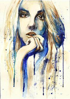 Self-portrait by Poplavskaya.deviantart.com on @deviantART