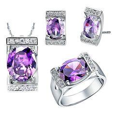 Virgin Shine Platinum Plated Rhinestone Square Oval Jewelry Sets Purple VIRGIN SHINE http://www.amazon.com/dp/B00KWGE1MA/ref=cm_sw_r_pi_dp_g0otub1J6HQ0H