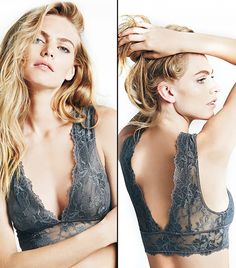 This bra is pretty enough to be worn as a crop top // Free People Gallon Lace De.This bra is pretty enough to be worn as a crop top // Free People Gallon Lace Deep V Bra in Graphite Pretty Lingerie, Sexy Lingerie, Deep V Bra, Lingerie Bonita, Mode Costume, Bra Straps, Fashion Beauty, Underwear, Cute Outfits