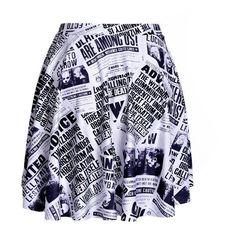 Harry Potter Newspaper SKATER SKIRT ❤ liked on Polyvore featuring skirts, circle skirt, flared skirt and skater skirt