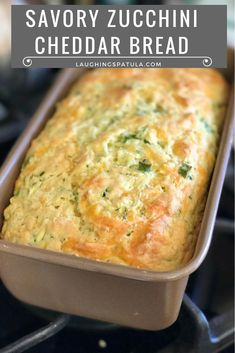 Savory Zucchini Cheddar Quick Bread!  Got a few zukes hanging around?  This is a perfect way to use them!  Whether you grow your own or buy them at your grocer, zucchini are always plentiful t