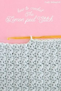 Crochet Tutorial for the Lemon Peel Stitch - Crafts Unleashed alternate single crochet and double crochet. Never do a double crochet on top of another crochet.