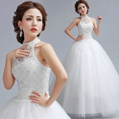 Sexy Wedding Dress Bridal gowns Party Prom Evening diamond Lace Formal Wedding
