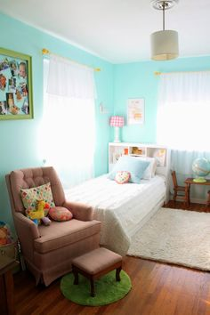 The Sweet Stuff: {Room for Two}, Shared baby and toddler room