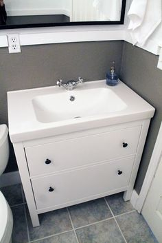 Hemnes Odensvik Sink Cabinet With 4 Drawers Gray Pinterest Sinks And