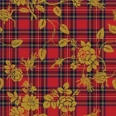 Royal Stewart Tartan Rococo by lilyoake on Spoonflower - custom fabric, wallpaper and gift wrap.