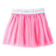 Hello Kitty Mesh Skirt in Neonbright Pink - Size 4 - NWT Girls #HelloKitty #HelloKittyMeshSkirt #Everyday
