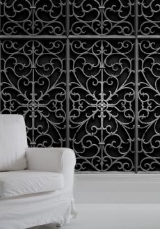 Bodie and Fou Wallpaper Wrought Iron--would make pretty ceiling medalion