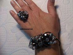 DIY: Brazalete hecho a mano con alambre de aluminio y abalorios - YouTube