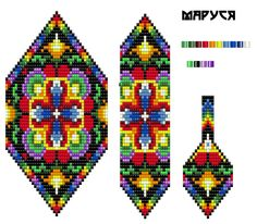 Diy Crafts - VK is the largest European social network with more than 100 million active users. Wire Jewelry Patterns, Beaded Necklace Patterns, Seed Bead Patterns, Peyote Patterns, Beading Patterns, Tear, Bead Crochet, Loom Beading, Bead Art