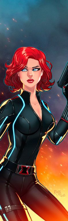 Black Widow Panel Art 2 by RichBernatovech.deviantart.com on @DeviantArt