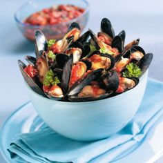 I Love Food, A Food, Good Food, Food And Drink, Food Disorders, Fish Recipes, Great Recipes, Mussels, Food For A Crowd