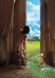 Child's view, Incredible story to go with this photo; MAGIC ONLY A CHILD CAN SEE