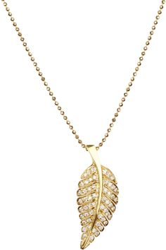 JENNIFER MEYER 18-karat gold diamond leaf necklace 3,650 USD