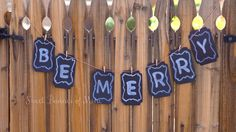 Be Merry Chalkboard Banner by sweetbannerofmine on Etsy