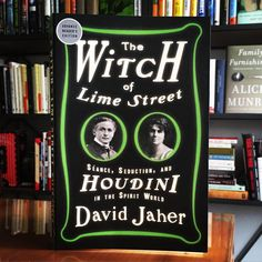 """""""Reads like a collection of mysterious tarot cards - Ouija boards, bizarre madame mediums, and yes our friend the Great Houdini - read it if you dare."""" - Lily Koppel, (The Astronaut Wives Club)  #TheWitchOfLimeStreet #Houdini #DavidJaher Publishes this October. @crownpublishing"""