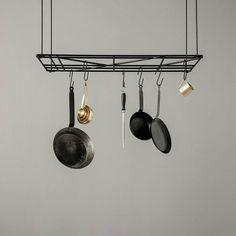 Ferm Living Plafond en wand rek Square zwart metaal 50x80cm