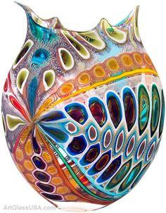 david leidy glass artist   Art Glass vessels by David Patchen
