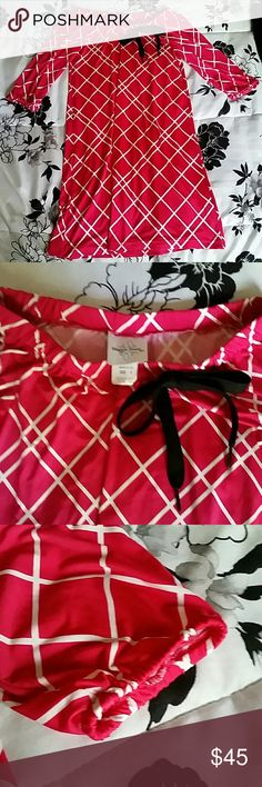 NWOT Girls Maggie Breen Too dress NWOT Girls Maggie Breen Too dress. Girls size 8, silky, with a little bit of stretch. Fuchsia colored, the pictures show more red than it really is. Thin white lattice pattern. Elastic around the sleeves and neck with a thick black shoelace bow, that doesn't make the neck tighter. No holes, rips or stains. Smoke free home.   I also offer a 10% discount when you purchase 2 or more items from my closet in a single order using the bundle feature. Maggie Breen…