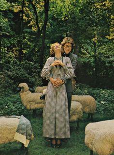 Yves Saint Laurent by Norman Parkinson for UK Vogue, 1974.