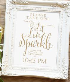 "Let Love Sparkle Sign - 8x10 or 11x14 sign - Printable sign - ""Bella"" antique…"