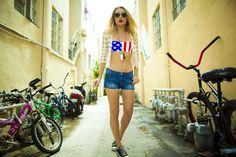 Blogger Collab: Amanda Del Duca in our Springsteen Bandeau Top #ourprinceofpeace #fashion