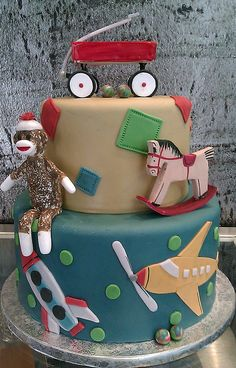 Vintage toys cake - Missy Shaffer made this for me for Peggy's birthday, January 2012