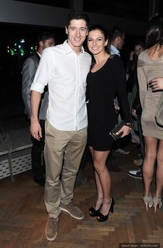 Robert Lewandowski with fiancee Anna Stachurska