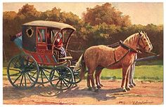 Horse and Buggy like Miss Hattie owned in TWO BRIDES TOO MANY and TOO RICH FOR A BRIDE.