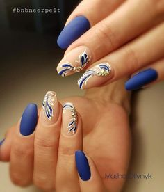 #elegantnaildesigns Elegant Nail Designs, Colorful Nail Designs, Elegant Nails, Stylish Nails, Nail Art Designs, Purple Nail Art, Green Nails, Blue Nails, Hair And Nail Salon