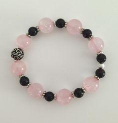 Passion Rose Quartz And Garnet Bracelet