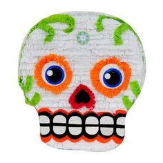 Dia de Los Muertos Haloween Skull Party Pinata 1 of 1 Fake Mustaches, Mini Bottles, Plastic Bottles, Drinking Buddies, Fortune Cookie, Kit, Party Games, Party Favors, Halloween Party