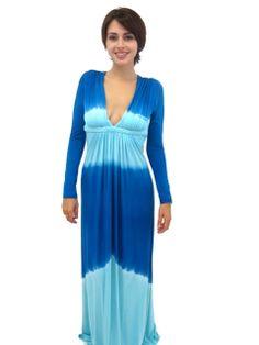 boutique flirt - Sky Giurgeva Long Sleeve Maxi Dress Blue Tie Dye, $178.00 (http://www.boutiqueflirt.com/sky-giurgeva-long-sleeve-maxi-dress-blue-tie-dye/)