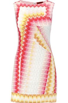 MISSONI Crochet-Knit Mini Dress. #missoni #cloth #dress