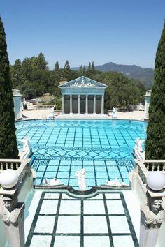 Hearst Castle swimming pool in San Simeon, California.